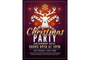 Christmas invitation. Holiday new