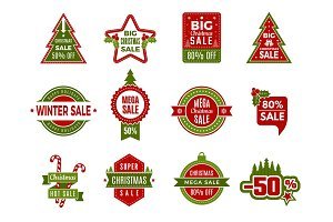 Winter holiday sales. Christmas