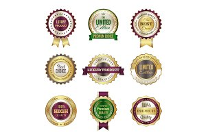Luxury premium badges. High quality