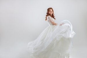 Delightful red-haired bride
