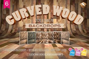 6 Curved Wood Backdrops