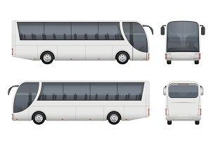 Travel bus realistic. Tourism