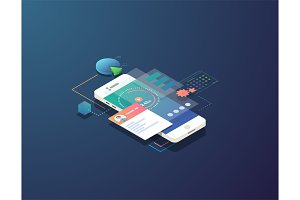 Isometric mobile time management