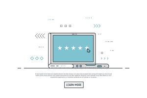 Online rating laptop concept