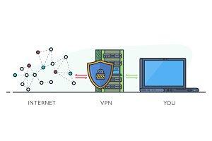 VPN scheme line banner