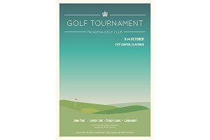 Local golf tournament poster