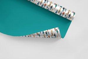 Isometric business people set