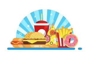Fast food set composition