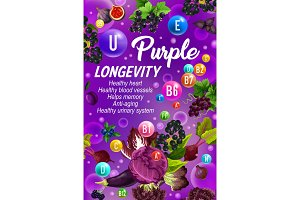 Vitamins, longevity and healthy food