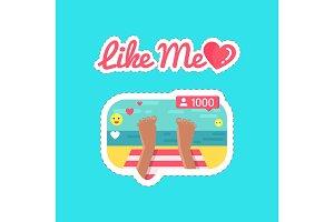 Like Me Social Network and Streams