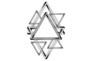 Impossible infinite triangles