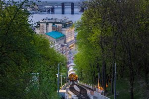Summer view on funicular