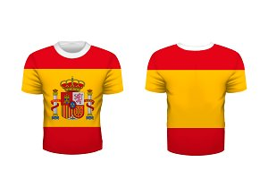 Sport t-shirt with Spain flag
