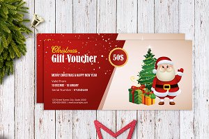 Christmas Gift Voucher template-V03