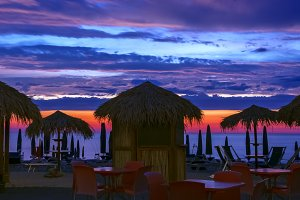 Spectacular sunrise on a beach