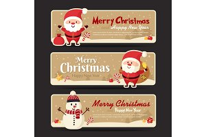 Set of christmas banner . Vector