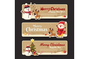 Set of christmas banner. Vector