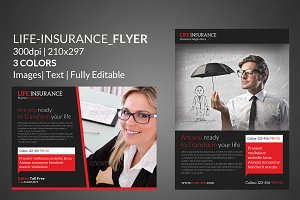Life insurance Flyer Print Templates