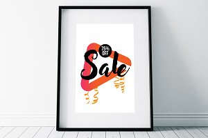 Sale Typographic Flyer Templates