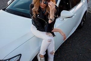 Beautiful and stylish young blonde