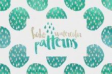 Boho Watercolor Patterns
