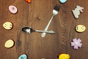 Easter homemade gingerbread cookie c