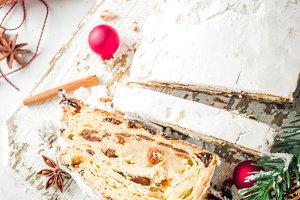 Homemade Christmas stollen