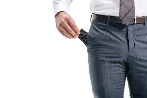 cropped image of businessman man sho