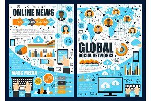 Online news and global network