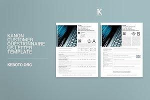Kanon Customer Questionnaire USL