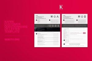 Kappa Customer Questionnaire USL