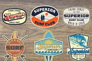 Surf Badge Set