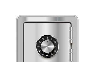 Realistic safe with lock