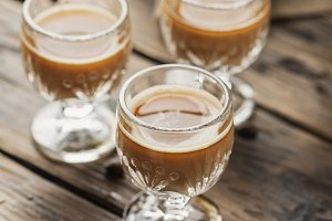 Strong coffee liqueur