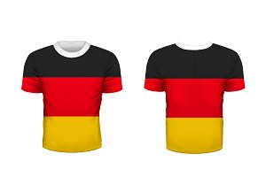 Sport t-shirt with germany flag