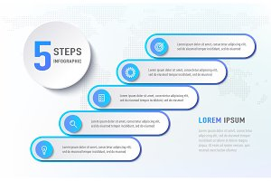 Five steps infographics like a
