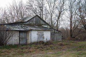 Old barn in late fall