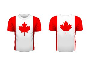 Sport t-shirt with canada flag