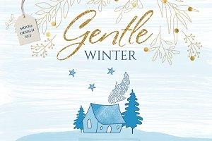 Gentle winter design set