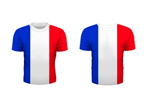 Sport t-shirt with france flag