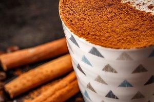 Winter warm spice coffee drink