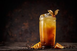 Orange and coffee cocktail