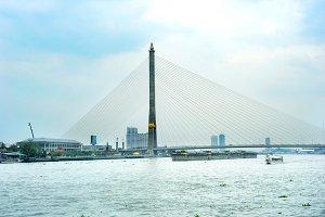Rama VIII Bridge, Bangkok, Thai