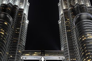 Petronas Twin Towers at night. KL