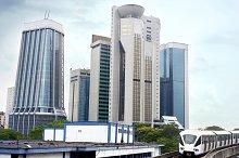 Cityscape with metro. Kuala Lumpur