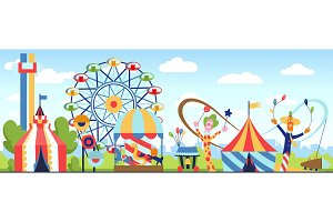 Amusement park. Fun park vector