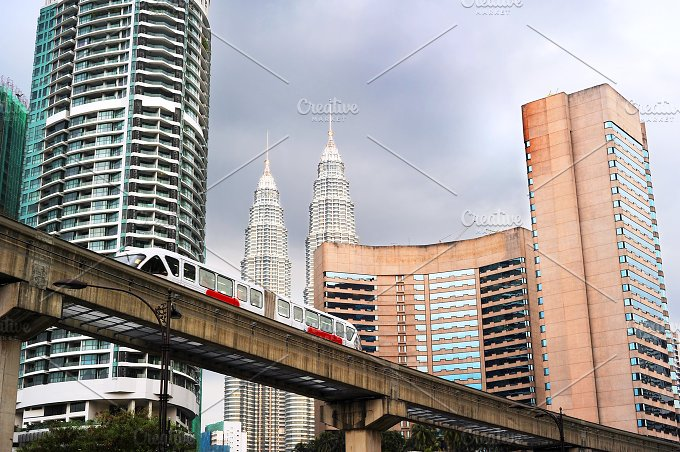 Metro and office buildings. KL - Architecture