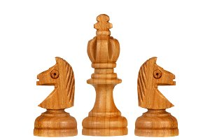 Brown chess pieces