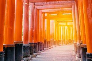 Red Tori Gate of Kiyomizudera Temple