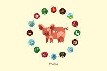 Farm & Agriculture Icons Set